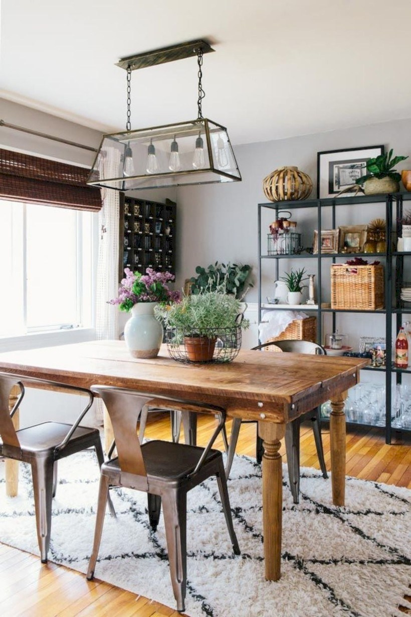 What's Hot On Pinterest Farmhouse Dining Room 1