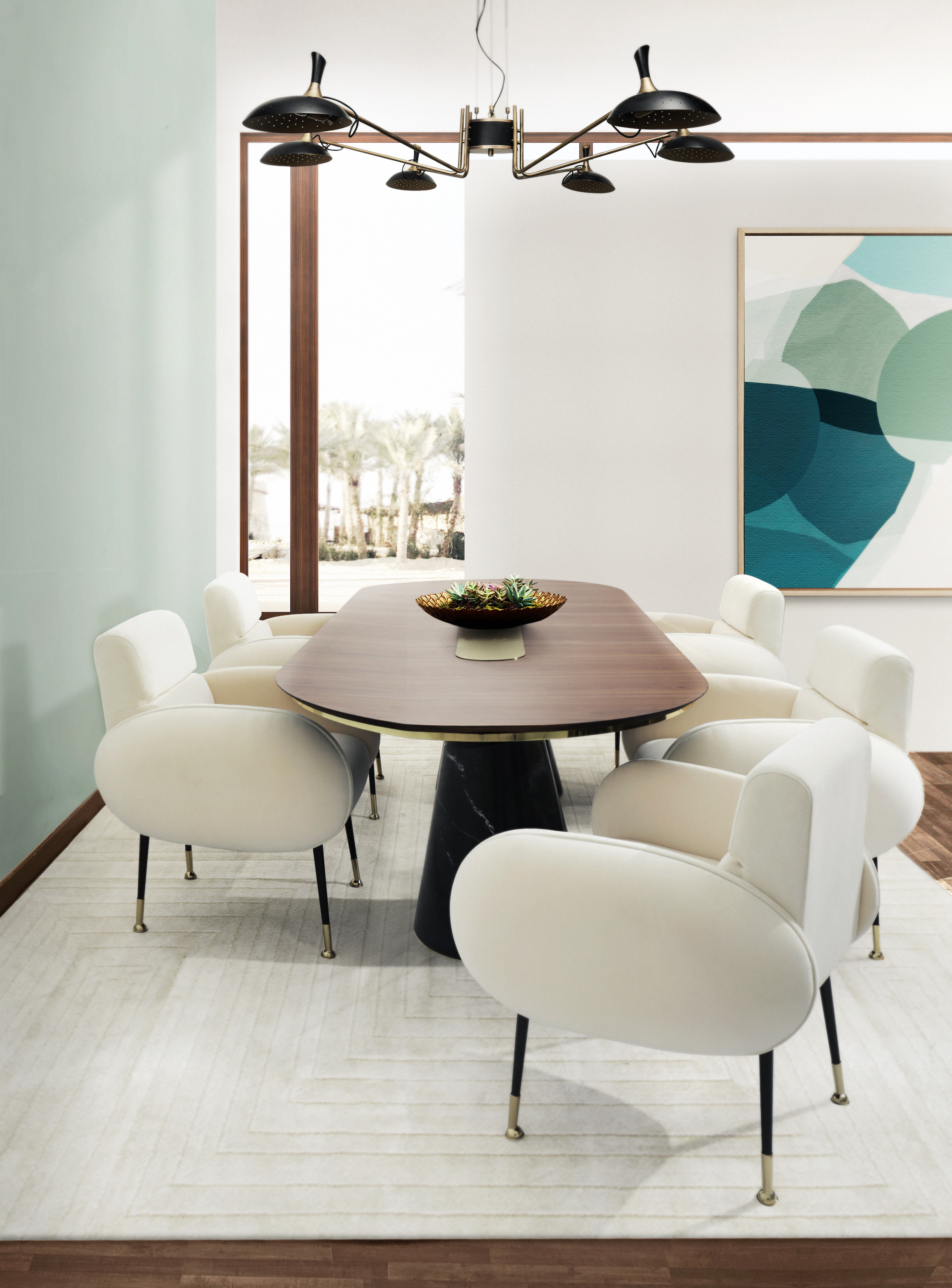 mid-century dining rooms