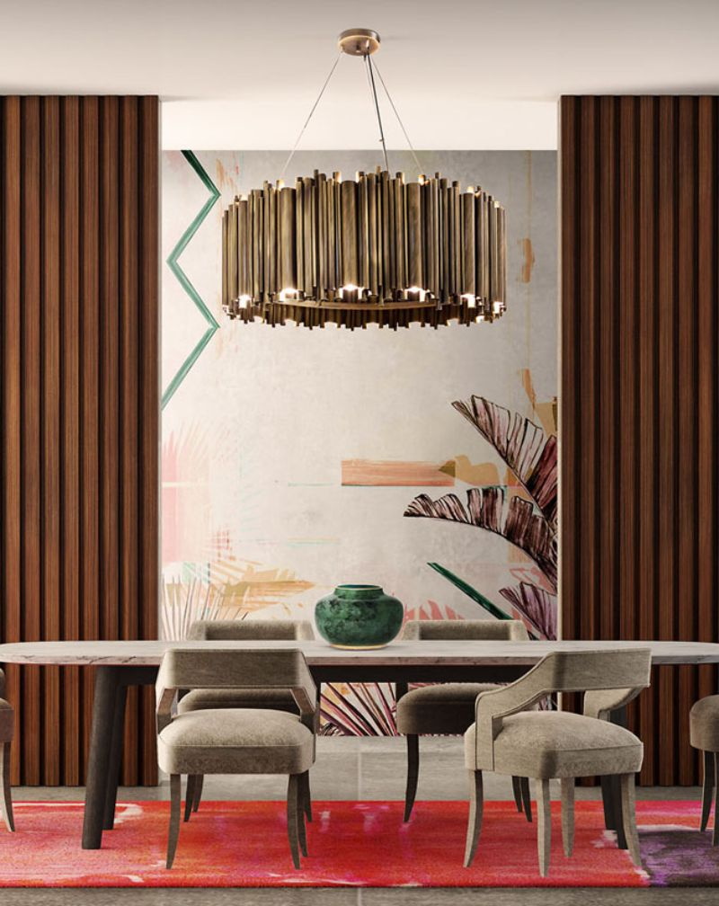 Find Out The Perfect Golden Lighting Fixtures For Your Dining Room Decor! 9