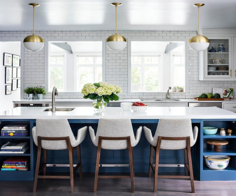 How To Use Kitchen Island And Still Have That Mid-Century Vibe