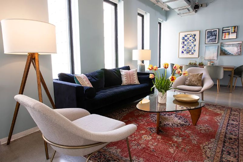Apartment 48 - Best Projects With Colourful Modern Upholstery